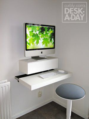 Desk-A-Day: How to Make a Wall Mounted Computer Station | Ikea .