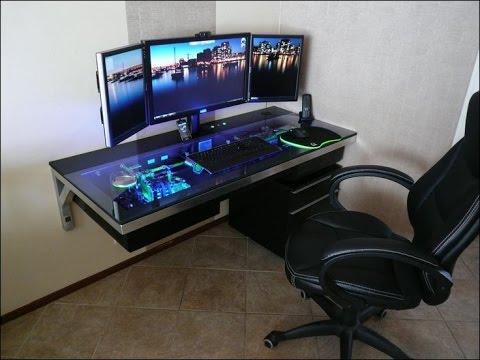 Wall Mounted Computer Desk - YouTu