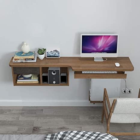 Amazon.com: AFEO-TV mount Wall-Mounted Computer Desk Wall Shelf .