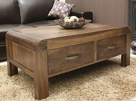 Solid Walnut Coffee Table with Storage - Shiro (With images) | Buy .