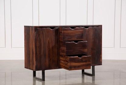 Walnut Finish 2-Door/3-Drawer Sideboard   Living Spac