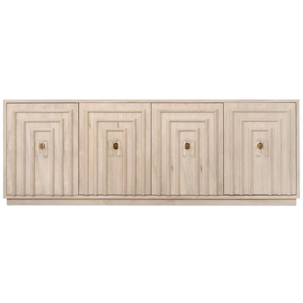 Art Deco 4 Door Credenza in Bleached Walnut | Art deco interior .