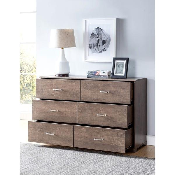 Shop Carbon Loft Jorchid Contemporary 6-drawer Horizontal Dresser .