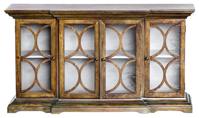 Belino Mist 4 Door Cabinet - Traditional - Buffets And Sideboards .
