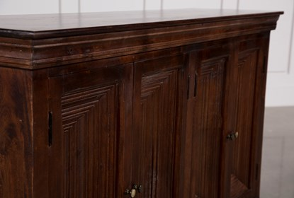 Walnut Finish 4-Door Sideboard | Living Spac