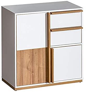 Amazon.com - VVR HOMES EVADO White&Walnut Small Sideboard .