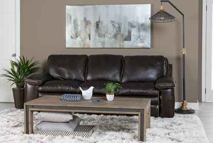 Walter Leather Sofa | Living Spac