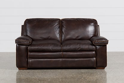 Walter Leather Loveseat | Living Spac
