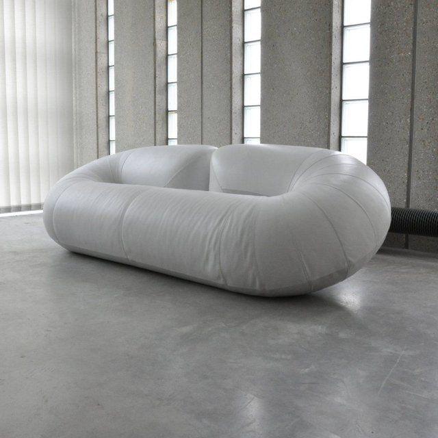 Mid-Century Belgian Zeppelin Sofa by Walter Leeman for Velda .