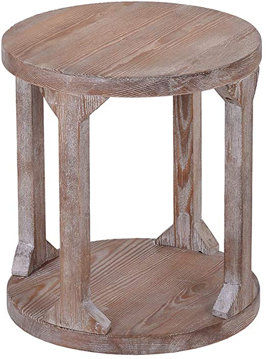 Amazon.com: Velraptor Round Rustic Coffee Table Solid Wood+MDF .