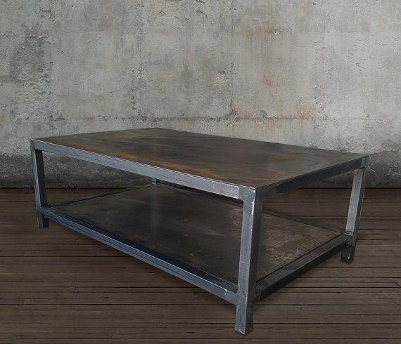 Welded Steel Two Tiered Table • Welded Steel • 1.5 tube steel .