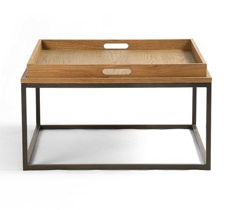 Crawford Coffee Table, Waxed Black - Furniture - Coffee Tables .