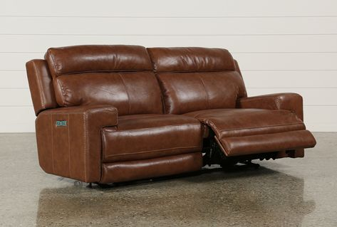 Waylon Leather Power Dual Sofa W/Power Headrest & Usb | Sofa .