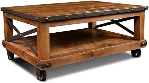 Amazon.com: Crafters and Weavers Larson Cross Bar Coffee Table .