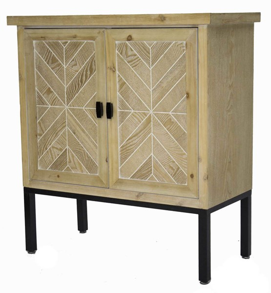HomeRoots Urban White Wash 2 Doors Parquet Sideboard | The Classy Ho