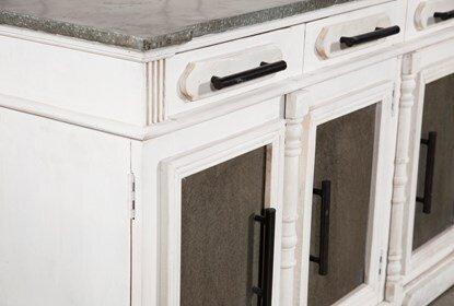 White Wash 3 Door 3 Drawer Sideboards