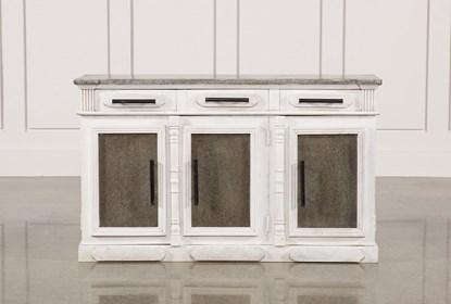 White Wash 3-Door/3-Drawer Sideboard | Living Spac