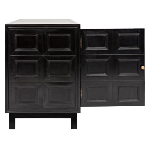 Wyatt Sideboard, Charcoal - dressers consoles & sideboards (noir .