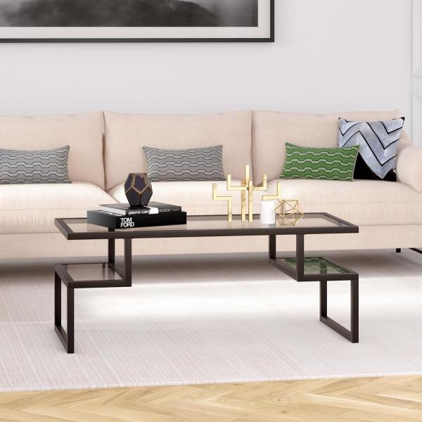 Hudson&Canal Zander Blackened Bronze Coffee Table CT0191 - The .