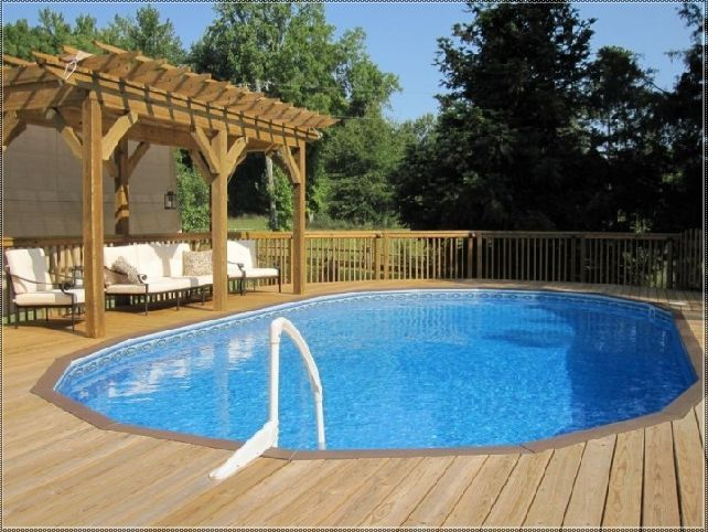 above ground pool deck design ideas | Backyard pool, Small .