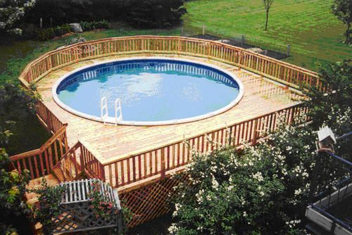 27' x 30' Walk Around Pool Deck for a 21' Pool at Menards | Pool .