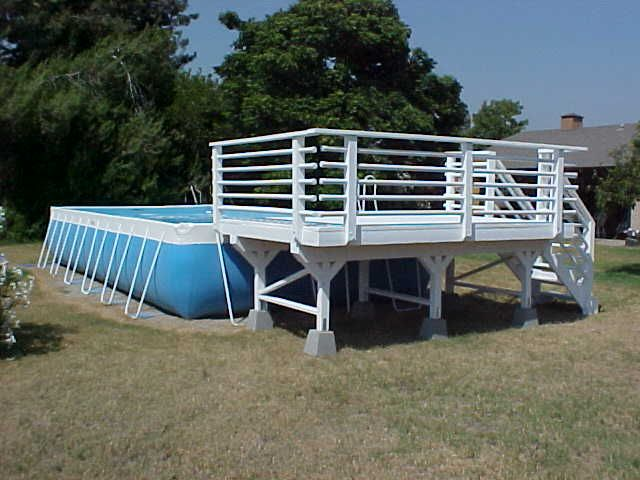 Above Ground Pool Deck Kits | 12 above ground pool deck solid 2x6 .