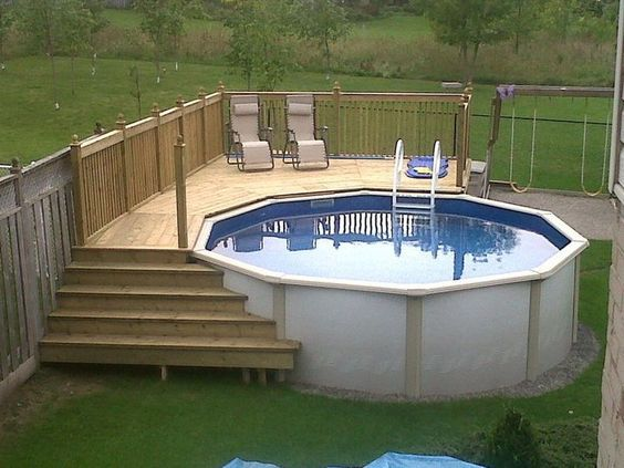 Above ground pool deck ideas | Swimming pool decks, Pool deck .