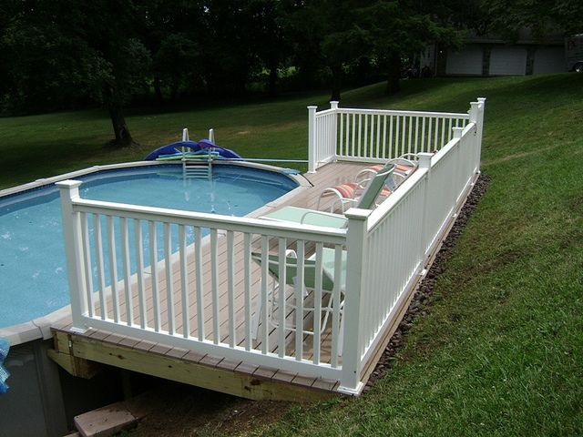 Azek Above Ground Pool Deck | Above ground pool decks, Pool .