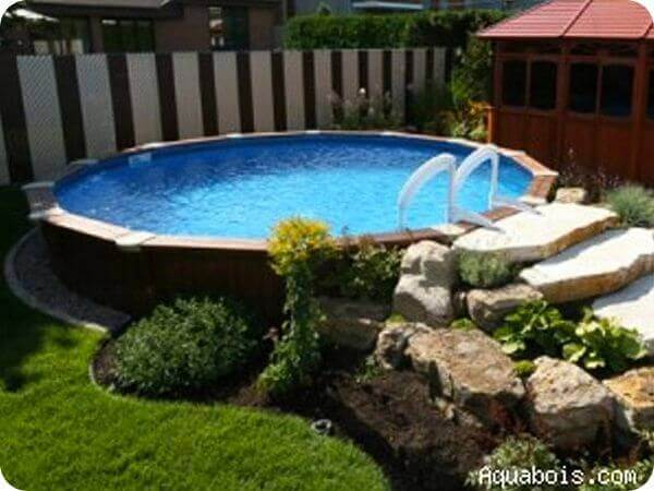 Basic Above-ground Pool Landscaping | InTheSwim Pool Bl