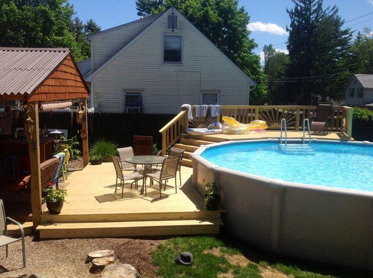 above ground pool patio ideas | Above ground pool decks, Best .