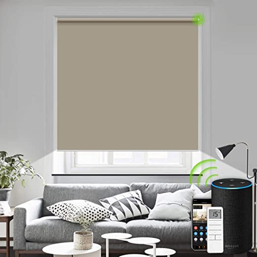 Amazon.com: Yoolax Motorized Roller Blinds Wireless Rechargeable .