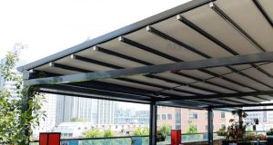 China New Design Awning Retracted Pergola Motorized Outdoor Awning .