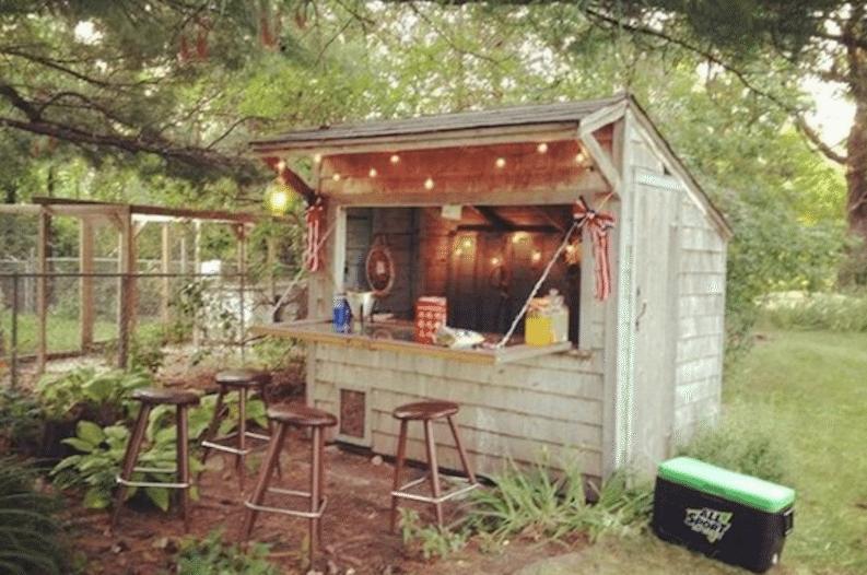 backyard bar shed — ooh la la mo