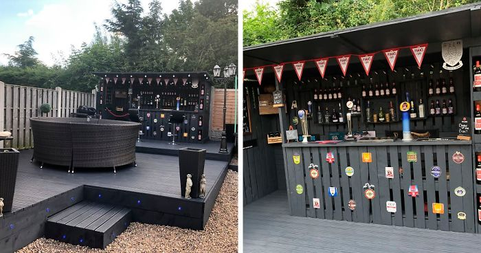 This Pallet Bar In My Backyard Cost Me Only $112 To Make   Bored Pan