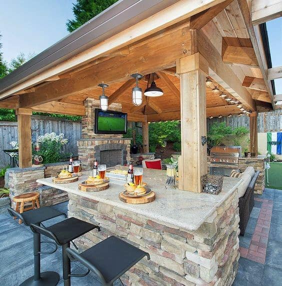 Top 50 Best Backyard Outdoor Bar Ideas - Cool Watering Hol