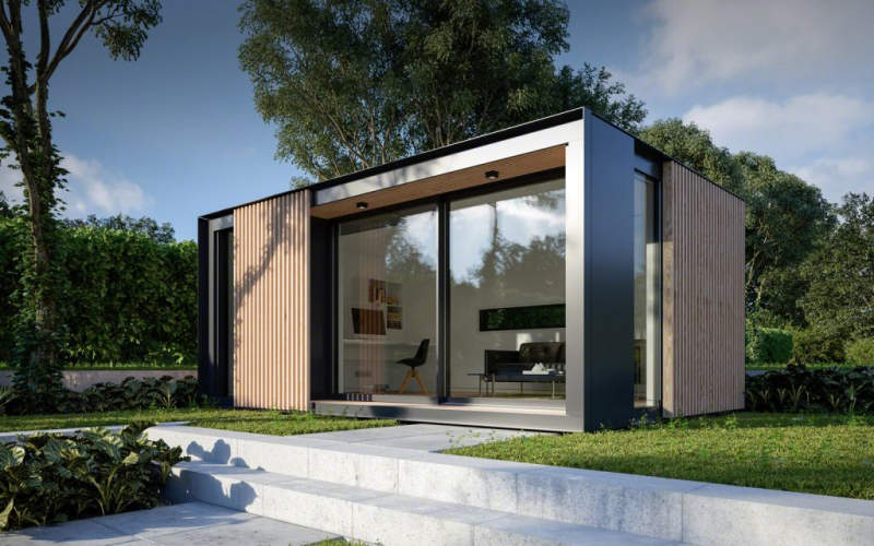 This Prefab Backyard Cabin by Pod Space is Winner of Red Dot .
