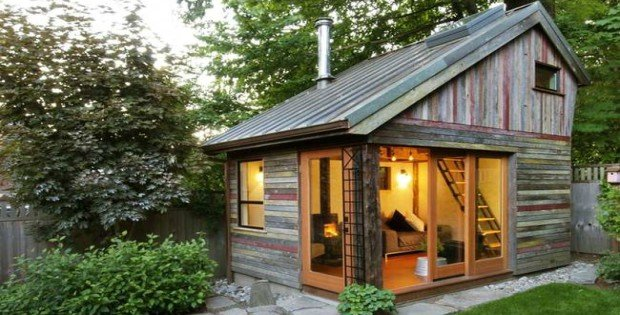 Recycled Tiny Backyard Cabin - Cabin Obsessi