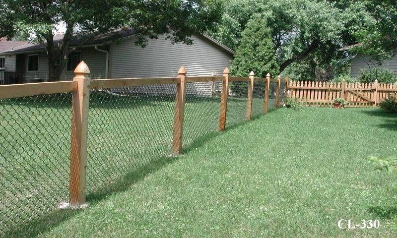 California Style Chain Link Fences   Lawn care diy, Backyard .