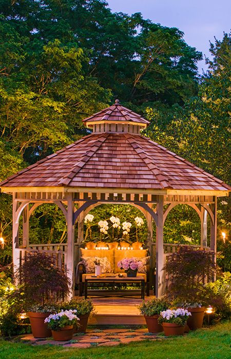 DIY Projects and Ideas | Gazebo lighting, Backyard gazebo .