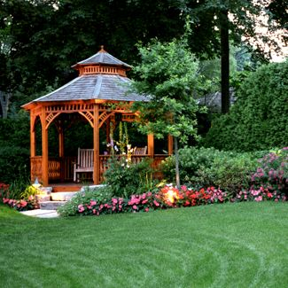 Gazebo for the front yard. | Backyard gazebo, Garden gazebo, Backya
