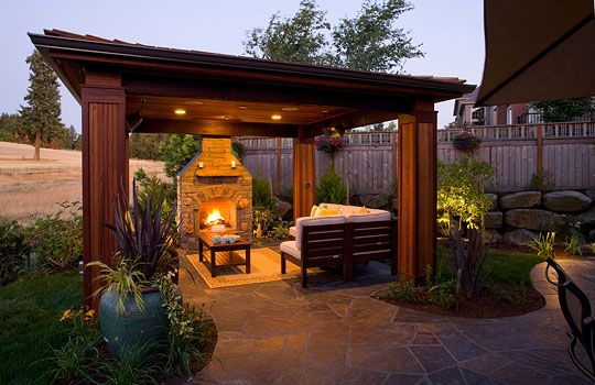 Outdoor Structures, backyard Gazebos and covered landscape .