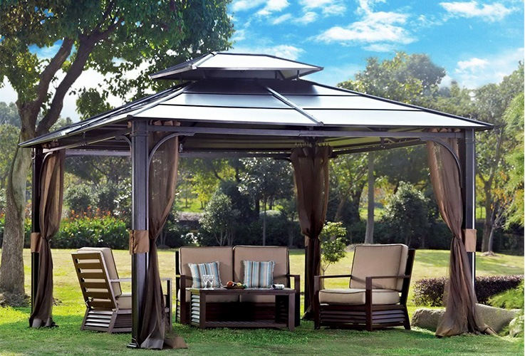 Top 10 Best Hardtop Gazebos For Backyard Relaxation – [Reviews .