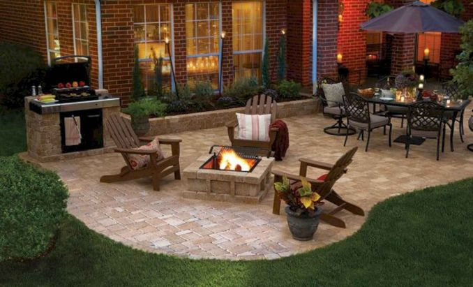 14 Incredible Small Backyard Patio Ideas With Firepit - Freeds