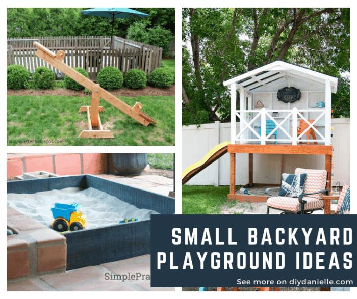 Small Backyard Playground Ideas: Create an Outdoor Playroom! - DIY .