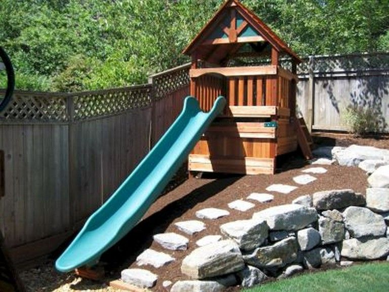 53+ Awesome Small Backyard Playground Landscaping Ideas in 2020 .