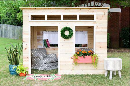 16 Free Backyard Playhouse Plans for Ki