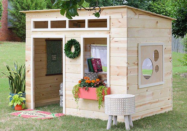 How to Build a Backyard Playhouse • The Garden Glo