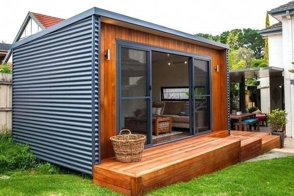Garden Shed Ideas Backyard Retreat Modern Shed Interior Small Deck .