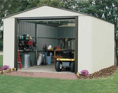 Vinyl Murryhill 12'Wx24'D Arrow Backyard Storage Garage / Shed K