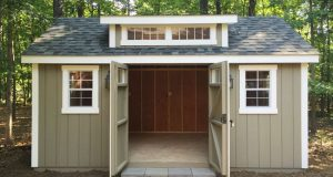 My Backyard Storage Shed Dreams Have Come True | Shed landscaping .